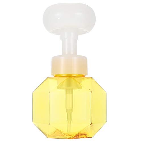 Angoily Dispensador de Jabón de Manos de Espuma de Flores Jabón de Manos de Flores Botella Dispensadora de Espuma Amarillo Dispensador de Jabón de Manos de Espuma Bomba de Espuma