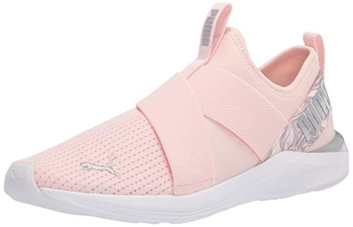 PUMA Women's Prowl Slip On Cross Trainer, Pink Dogwood-Metallic Silver, 7