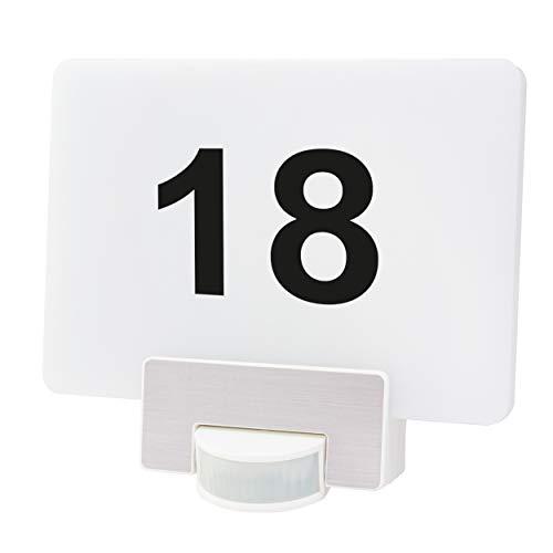 REV 0088927112 Link2Home, WLAN Hausnummer Leuchte, App/Sprache, weiss