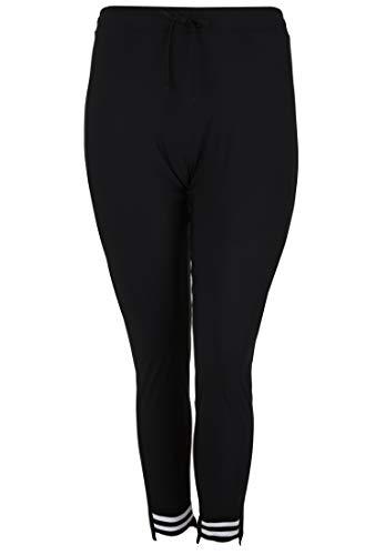 Doris Streich Damen Hose mit asymmetrischem Saum Bindegürtel