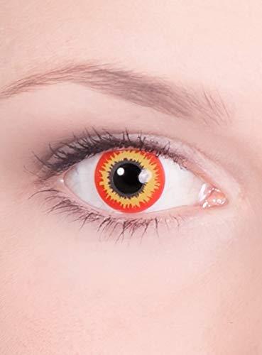 Kontaktlinsen Jahreslinsen Ork - Motivlinse mit Sehstärke - Dioptrien: -3,5 - ideal für Halloween, Karneval & Motto-Party