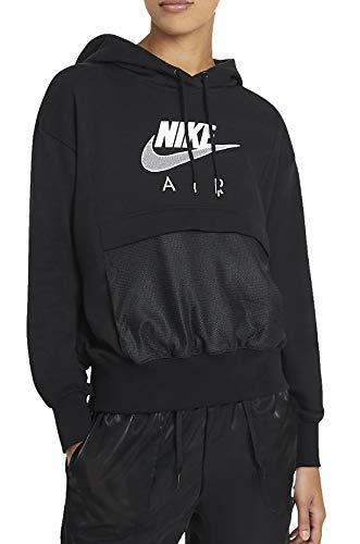 Nike Air, Felpe con Cappuccio Donna, Black/White, M