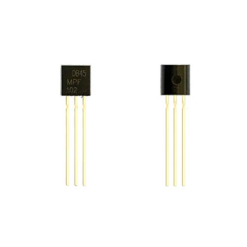 Todiys New 15Pcs for MPF102 MPF102G MPF-102G to-92 RF Mosfet N-Channel JFET Transistors MPF-102