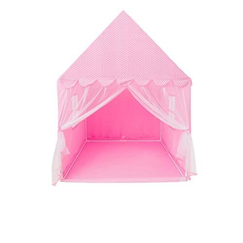 XUZg-wFence XZGang Carpa Castillo de la Muchacha, Femenina Rosada Tienda del Juego con Puntos Blancos, Casa de Juguete de niños al Aire Libre for niños de 0-12 Espacio Infantil