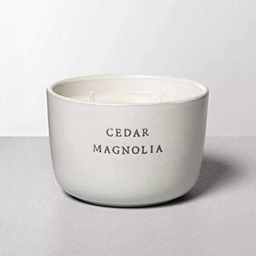 Hearth & Hand with Magnolia 7.4oz Ceramic 2-Wick Candle Cedar Magnolia