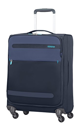 American Tourister Herolite Super Light Upright Equipaje de Mano, 55 cm, 42 Litros, Color Azul
