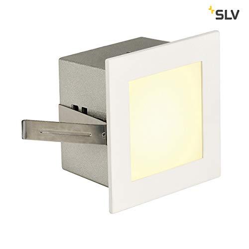 SLV LED Einbauleuchte Frame Basic | Wand- und Deckenleuchte zum Einbau | Eckig, Weiß, 3000K Warmweiß | Stilvolle Wandleuchte, Einbau-Strahler LED Treppen-Beleuchtung, Stufen-Licht, Treppenlicht