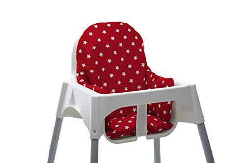 Messy Me Hochstuhl Einsatz - Abwischbarer IKEA Antilop Kissen Schutz, beblümt, Sitzhilfe für Babys, Essenszeit - Daisy Blau