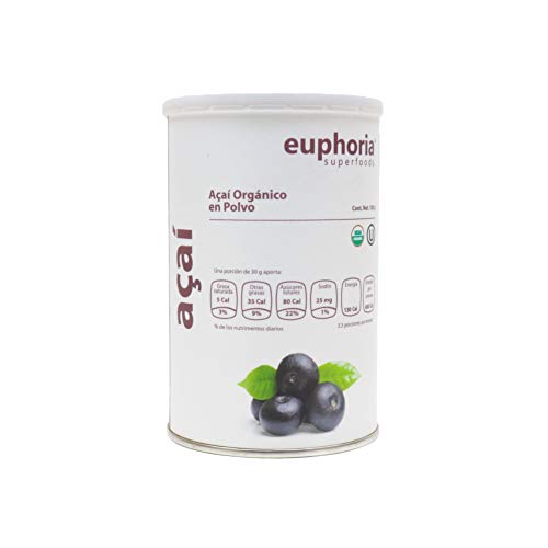 Euphoria Superfoods, Açaí Orgánico en Polvo, 100 g