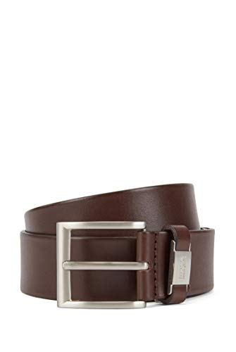BOSS Herren Connio Gürtel, Braun (Dark Brown 202), 110