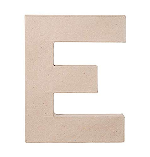8 X 5 1/2 X 1 IN MACHE LETTER E