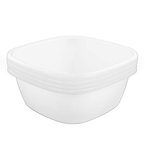 Eagrye 12 Quart Whith Dishpan/ Wash Basin, Set of 3
