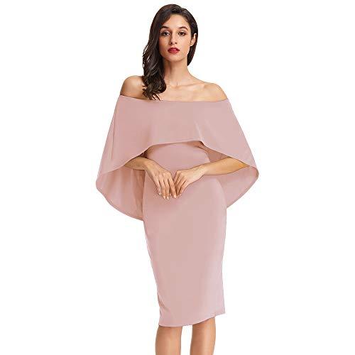 GRACE KARIN Vestiti Donna Elegante Cerimonia Sera Abito Cocktail Vestito Damigella Hips-Wrapped S...