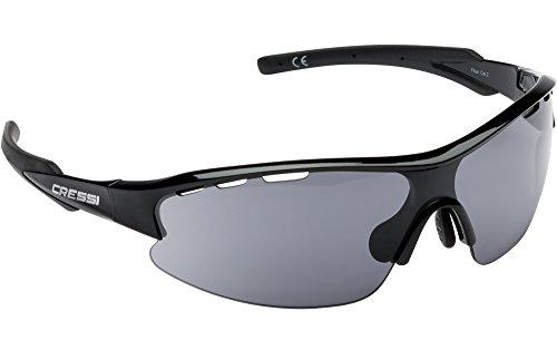 Cressi Vento Gafas de Sol, Hombre, Negro Lente Gris Oscuro, Talla Única