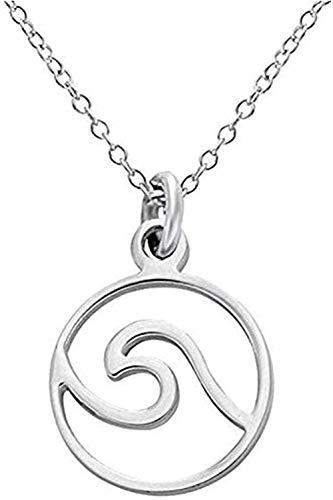 WYDSFWL Collar Esperando Colgante Collar joyería de Acero Inoxidable grabada para Atletas al Aire Libre Collar de Regalo