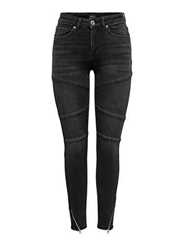 ONLY Damen ONLBLUSH Cut Life MID SK ADNMJNS REA Jeans, Dark Grey Denim, S/medium