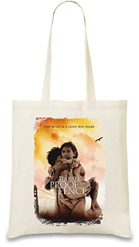 Kaninchen Proof Zaun Poster - Rabbit Proof Fence Poster Custom Printed Tote Bag| 100% Soft Cotton| Natural Color & Eco-Friendly| Unique, Re-Usable & Stylish Handbag For Every Day Use| Custom Shoulder
