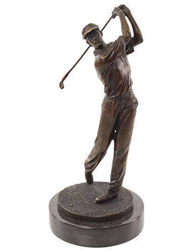 aubaho Sculpture en Bronze Golfeur Pierre moderniste Figure Statue Style Antique 33cm b