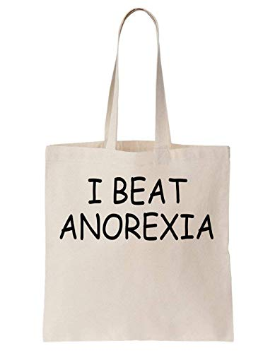 KRISSY I Beat Anorexia Funny Slogan Schultertasche Bag