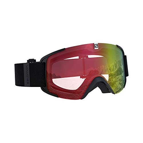 Salomon, Xview Photo, Unisex-Skibrille, Schwarz/AW Red, L40844100