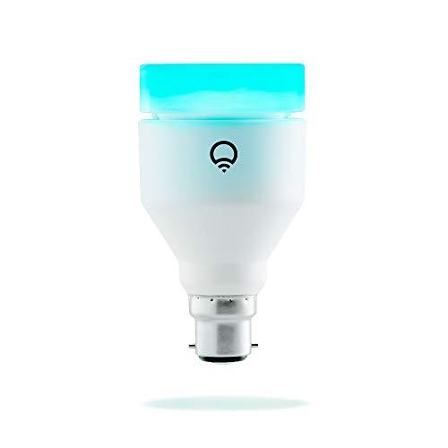 LIFX (B22) Ampoule smart LED connectable Wi-Fi, ajustable, multicouleur, variable, pas de...