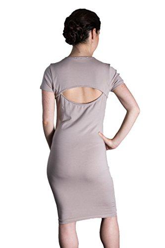 Matron Saint Damen Kleid The Rebel mit offenem Rücken, für Schwangerschaft und darüber hinaus - Pink - 34 DE/L