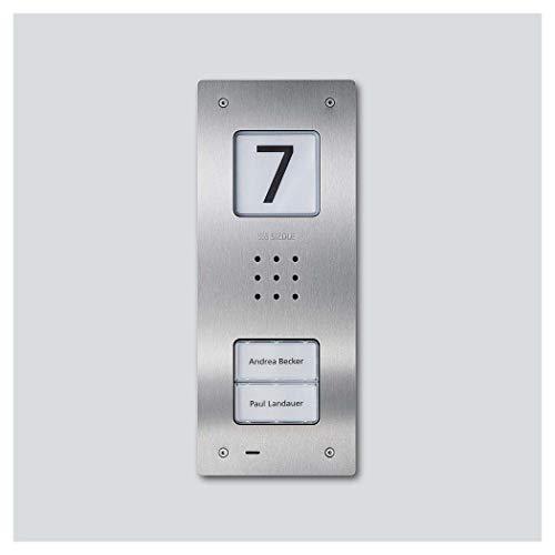 Siedle&Söhne CAU 850-2-0 E - Stazione audio per porta, in acciaio INOX spazzolato