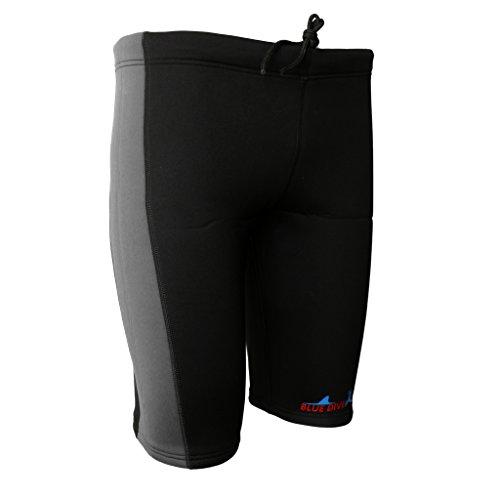 Gazechimp Neoprenhose 3 mm Neopren Shorts Rafting Kajak Kanu Sport - Grau und Schwarz, S