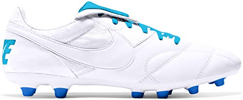 Nike Premier II Firm Ground Soccer Cleats White/Blue