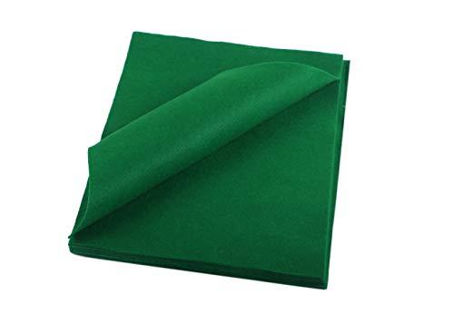 YYCRAFT Craft Soft Felt Sheets 9 Inch X 12 Inch - 24 Pcs Pack, Emerald Green