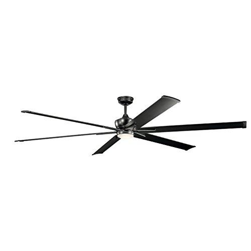 Kichler 300302SBK Szeplo Patio LED Ceiling Fan with Lights, 96-inch, Satin Black