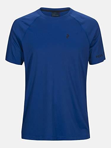 Peak Performance Men Pro Co2 Shortsleeve Vêtements De Course T-Shirt Blue - Black XL