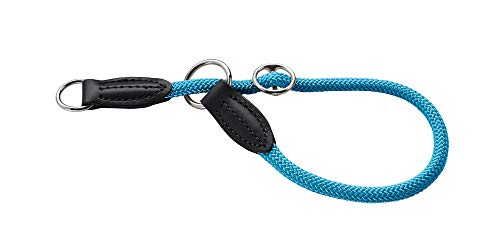 HUNTER Freestyle Dressurhalsung, Hundehalsband, Zugstopper, robust, wetterfest, 35 (S), petrol
