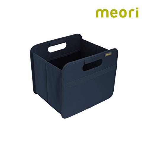 meori Faltbox Small in Marineblau - Stabile Klappbox S mit Griffen - perfekte Allzweck Aufbewahrungslösung - Tragkraft bis 30 kg - A100111 - 32 x 26,5 x 27,5 cm