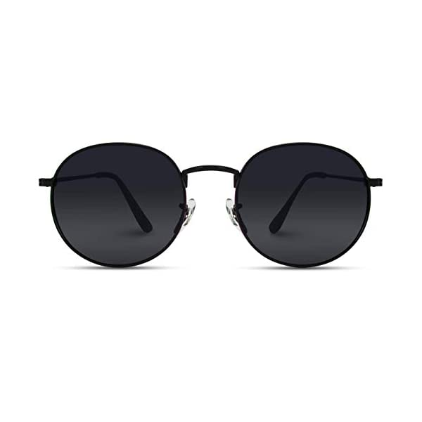 WearMe Pro – Reflective Lens Round Trendy Sunglasses