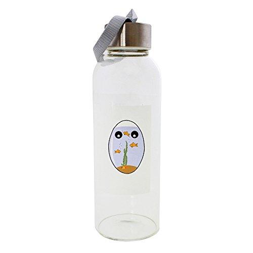 PickYourImage Cabeza de huevo con acuario. Botella de cristal de 420 ml