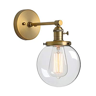 "Phansthy 1-Light Vintage Industrial Wall Light with 5.9"" Round Canopy"