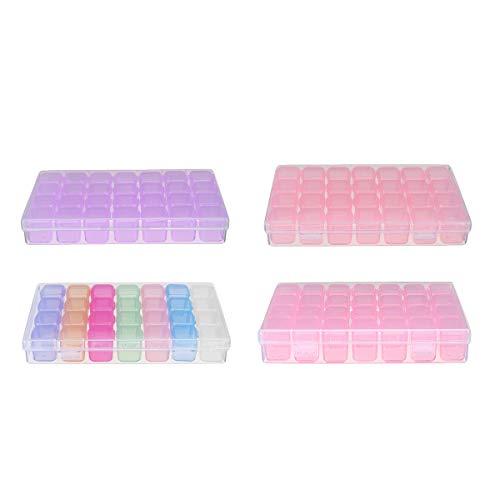 MYAMIA 28 Ranuras Cosméticas Organizador Acrílico Transparente Maquillaje Soporte Caso Caja Almacenamiento De Joyas Caja - Rosado