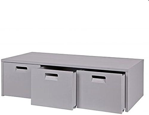 ESTO GmbH Sitzbank Junior mit Aufbewahrungsboxen grau Bank
