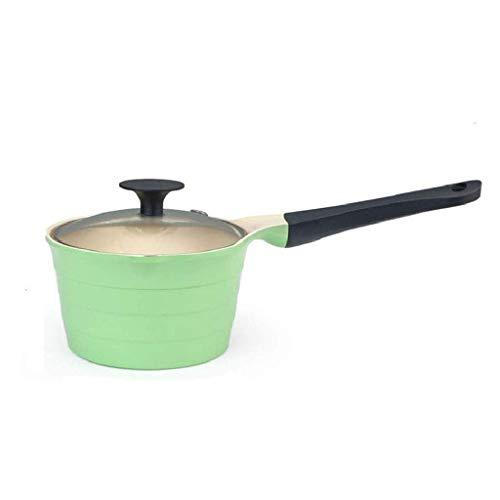 XIUYU Keramik-Wok mit Glasdeckel, Mehrzweckkochtopf, Wok, Milch Pan Non Stick Kochgeschirr Suppentopf