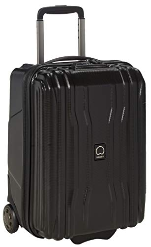 DELSEY Paris Cruise Lite Hardside 2.0 Luggage Under-Seater with 2 Wheels, Black, Carry-on 19 Inch