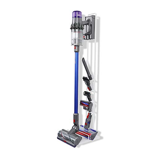 LANMU Floor Stand Accessory Holder Compatible with Dyson V11 V10 V8 V7 V6 Vacuum Cleaner, Attachment Storage, No More Messy Tools (White)