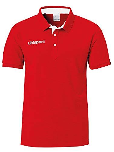uhlsport Herren Essential Prime Polo Shirt Poloshirt, rot, 4XL