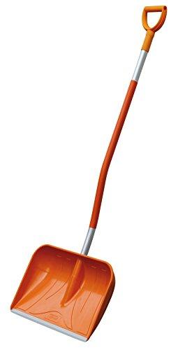 CEMO GFK D-Griff Schneeschaufel, Orange-Silber, 161 cm
