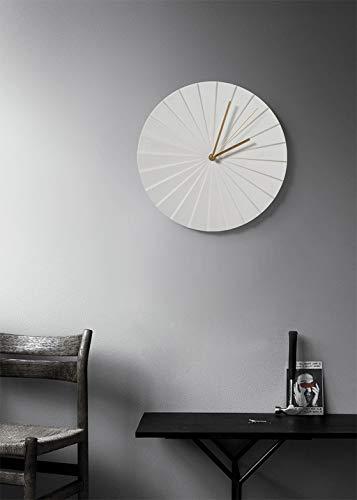 Nordic Mute Wall Clock Chambre Salon Creative Origami Céramique Ménage De Luxe Horloge Simple Personnalité Horloge De Mode (Couleur : Blanc)