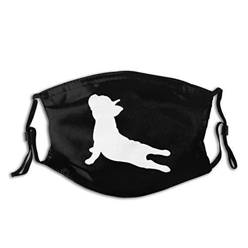 French Bulldog Outdoor Mask,Protective 5-Layer Activated Carbon Filters Adult Men Women Bandana