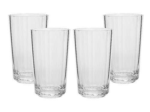 Set 4 Vasos High Ball Diamond Acrílico, 750 Ml cada uno | CS-4005 | BAUM BROTHERS