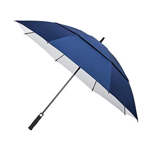 YAPASPT Parapluie de Golf Extra-Large de 62'avec Protection UV, Coupe-Vent à Double auvent et à...