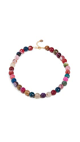 Maison Irem Women's Necklace Chalcedony Candy, Mix Colors, One Size