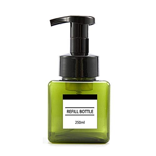 Litty089 Distributeur de savon rechargeable 250 ml 250 ml, Vert 250 ml., Green 250ml